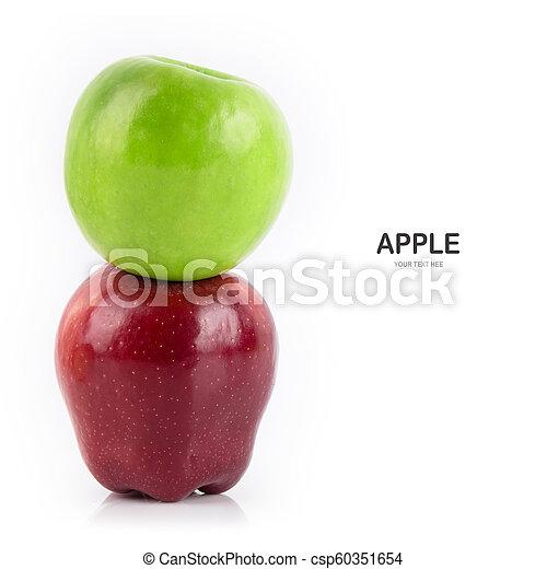 Apple isolate on white background. - csp60351654