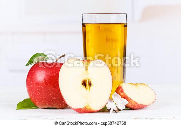 Apple juice fruit apples drink glass - csp58742758