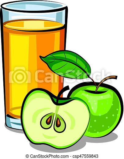 illustration of apple juice glass with ripe sliced apples eps vector rh canstockphoto com