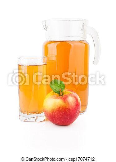 Apple juice in glass jar - csp17074712