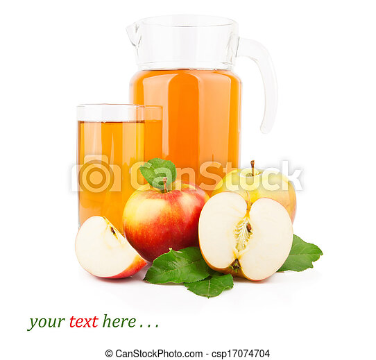 Apple juice in glass jar - csp17074704
