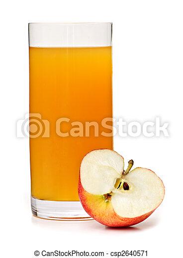 Apple juice in glass - csp2640571