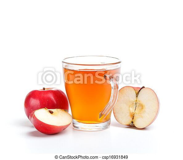 Apple juice in glass - csp16931849