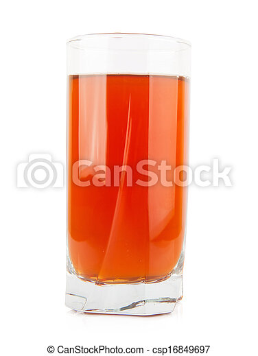 Apple juice in glass - csp16849697