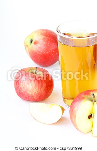 Apple juice in glass - csp7361999