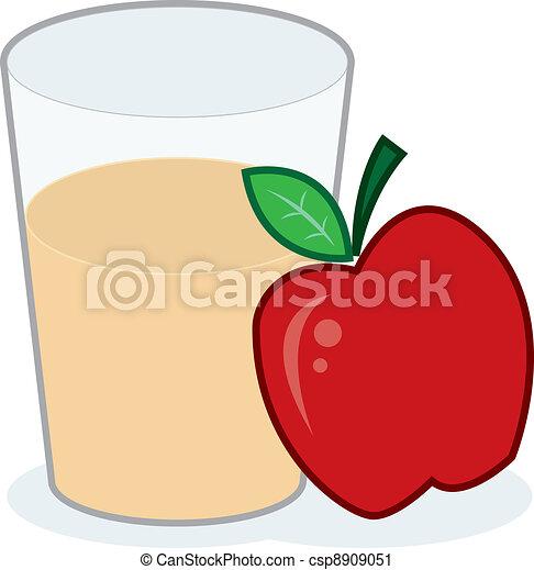 glass of apple juice with apple vector clip art search rh canstockphoto com apple juice box clipart Juice Box Clip Art