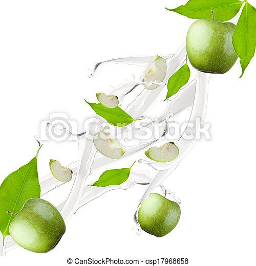 apple milk splash - csp17968658
