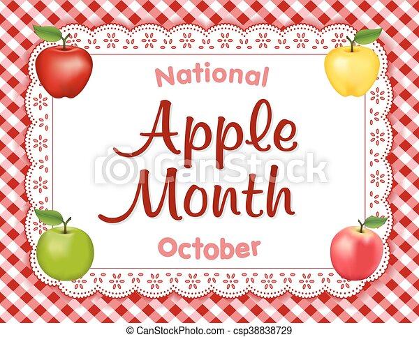 Apple Month, Lace Doily Place Mat - csp38838729