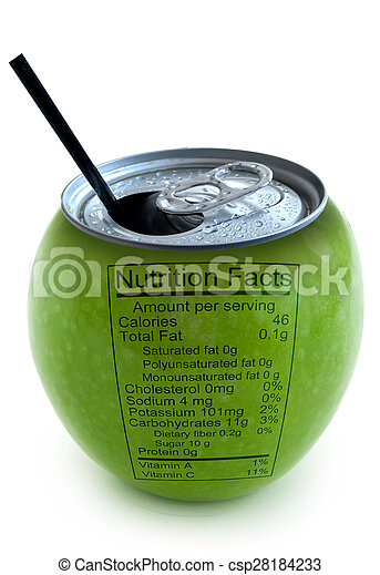Apple nutrition facts  - csp28184233