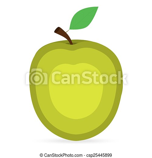 apple on a white background - csp25445899