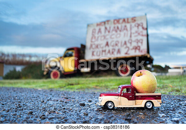 Apple Pickup Truck - csp38318186