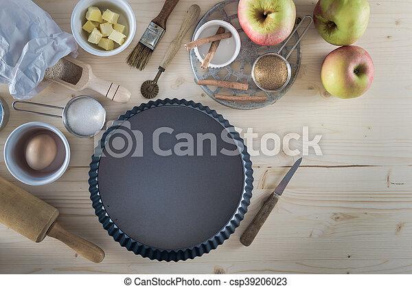 Apple Pie Ingredients - Baking - csp39206023