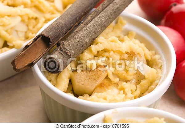 Apple pie ingredients - csp10701595