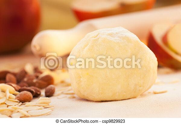 Apple pie ingredients.  - csp9829923