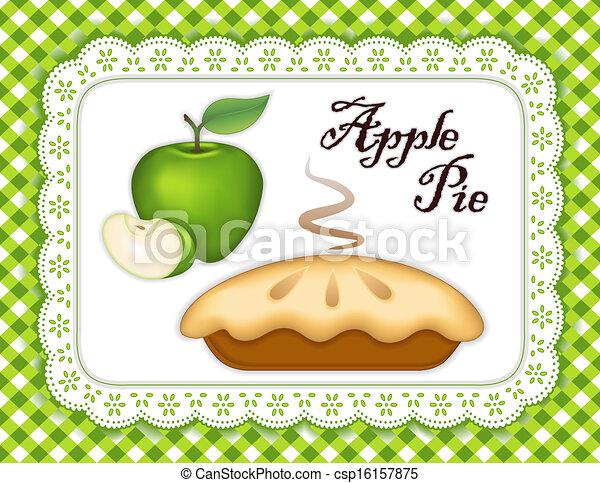 Apple Pie, Lace Doily Place Mat - csp16157875