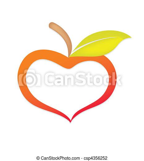 Apple similar to heart - csp4356252