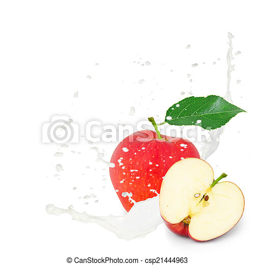 Apple splash - csp21444963