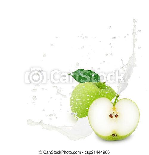 Apple splash - csp21444966