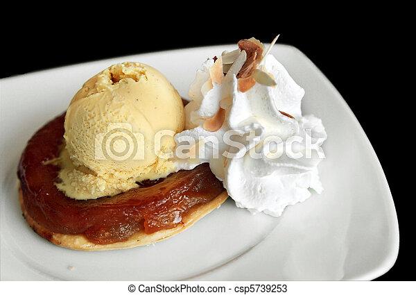 Apple Tart with Ice-Cream - csp5739253