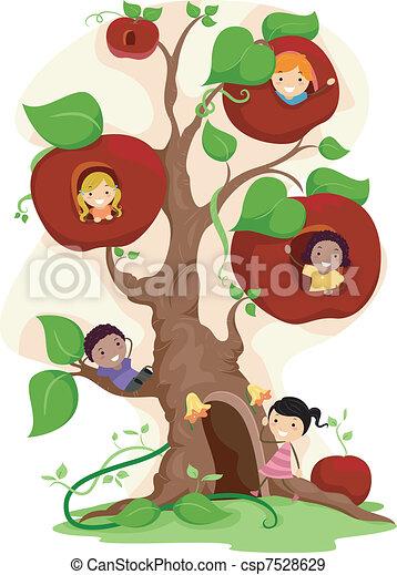 Apple Tree Kids - csp7528629