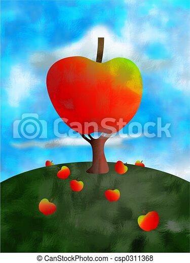 apple tree - csp0311368