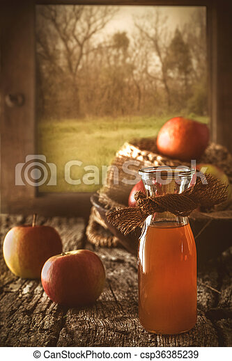 Apple vinegar - csp36385239