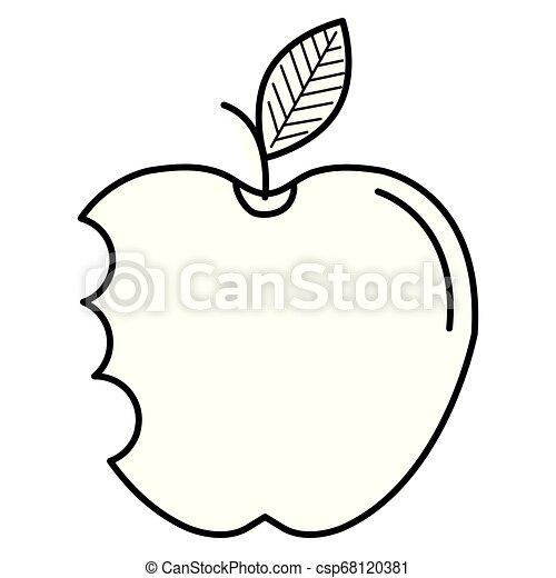 apple with bite icon - csp68120381