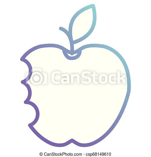 apple with bite icon - csp68149610