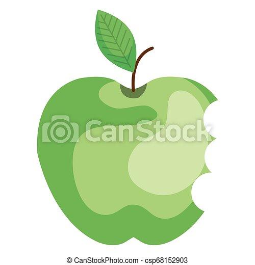 apple with bite icon - csp68152903