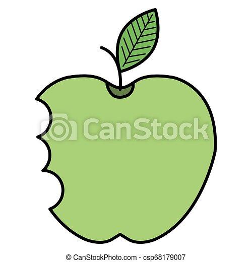 apple with bite icon - csp68179007