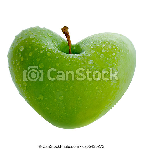 Apple With Heart - csp5435273