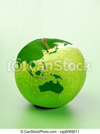 Apple with world map stock photography search pictures and photo apple with world map csp6069211 gumiabroncs Images