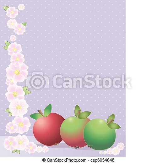 apples and blossom - csp6054648