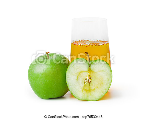 Apples and glass of juice - csp76530446