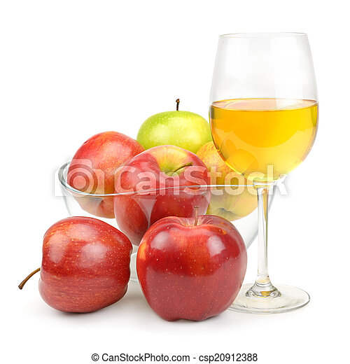 apples and glass with juice - csp20912388
