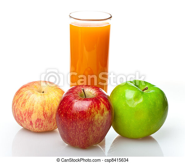 Apples and juice in glass - csp8415634