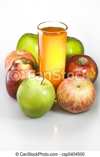 Apples and juice in glass - csp5404500