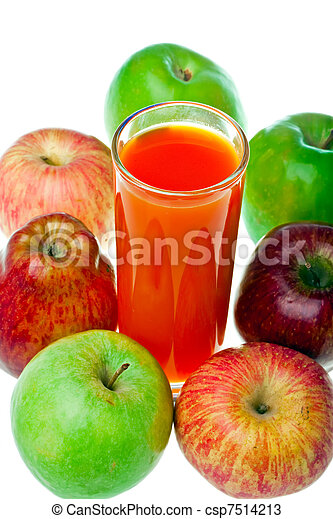Apples and juice in glass - csp7514213