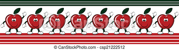 Apples border - csp21222512