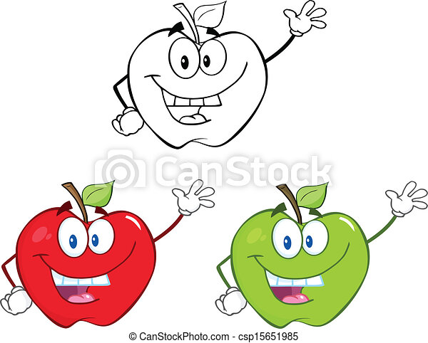Apples Characters Set Collection 1 - csp15651985