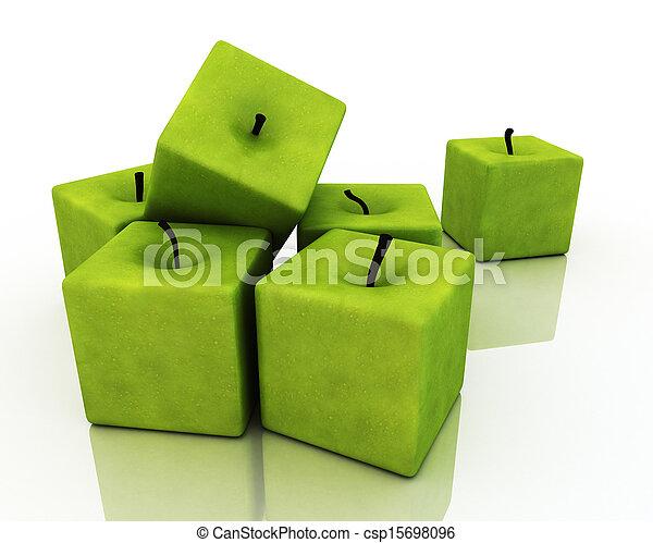 apples., derékszögben, zöld - csp15698096