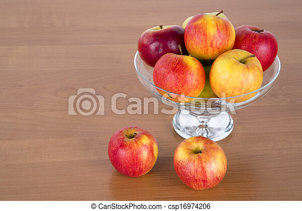Apples in a glass - csp16974206