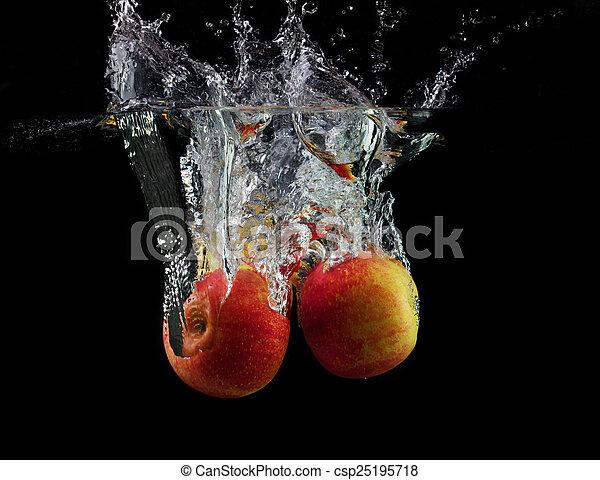 Apples in water - csp25195718
