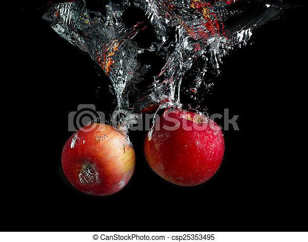 Apples in water - csp25353495