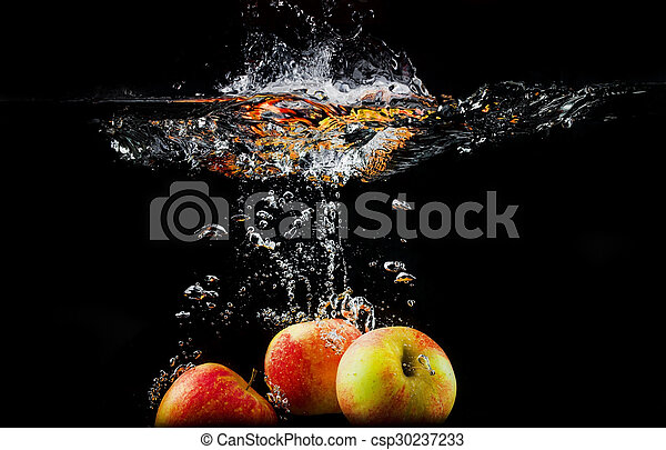 Apples in water - csp30237233
