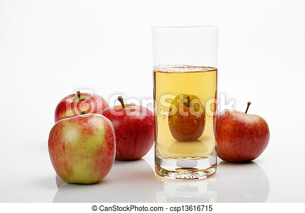 Apples & juice glass - csp13616715