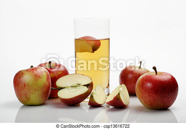 Apples & juice glass - csp13616722