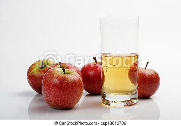 Apples & juice glass - csp13616706