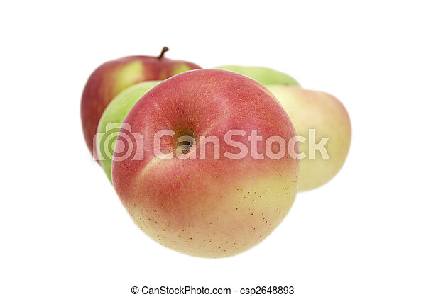 Apples on a white background - csp2648893