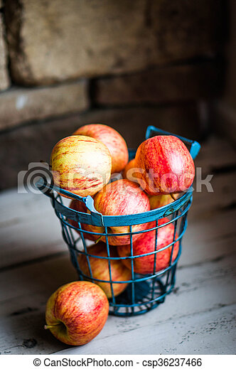 Apples On Wooden Background - csp36237466